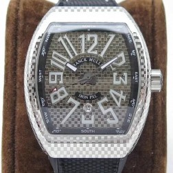 1:1 Mirror Top Replica Franck Muller Vanguard IRON PXL Watch Silver Case Swiss Made SFR048
