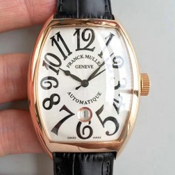 High End 1:1 Mirror Replica Franck Muller CASABLANCA Rose Gold Watch White Dial Swiss Made SFR053