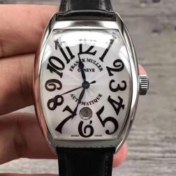 High End 1:1 Mirror Replica Franck Muller CASABLANCA Watch White Dial Swiss Made SFR054