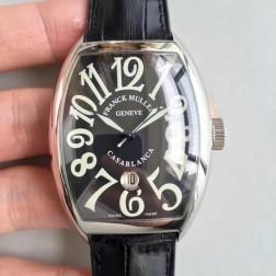 High End 1:1 Mirror Replica Franck Muller CASABLANCA Watch Black Dial Swiss Made SFR055