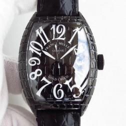 High End 1:1 Mirror Replica Franck Muller Gold Croco Watch Black Grid Case Swiss Made SFR056