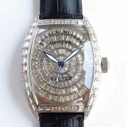 High End 1:1 Mirror Replica Franck Muller CURVEX Watch Diamond Case Swiss Made SFR063