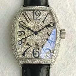 High End 1:1 Mirror Replica Franck Muller Diamonds Case Watch Diamonds Dial Swiss Made SFR065