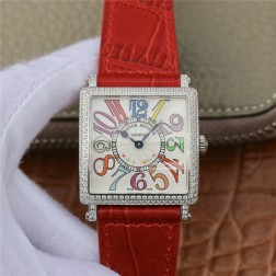 1:1 Mirror Replica Ladies Franck Muller Master Square Diamonds Case Watch Colorful Dial Swiss Made SFR066
