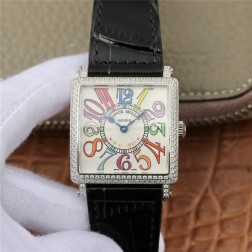 1:1 Mirror Replica Ladies Franck Muller Master Square Diamonds Case Watch Colorful Dial Swiss Made SFR067