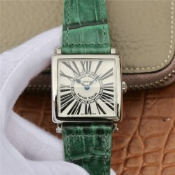 1:1 Mirror Replica Ladies Franck Muller Master Square Watch White Dial with Roman Swiss Made SFR072