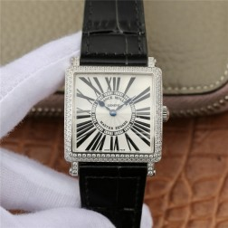 1:1 Mirror Replica Ladies Franck Muller Master Square Watch Diamonds Bezel Swiss Made SFR074