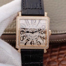1:1 Mirror Replica Ladies Franck Muller Master Square Rose Gold Diamond Case and Dial Swiss Made SFR076