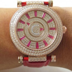 Replica Ladies Franck Muller DOUBLE MYSTERY Diamonds Dial Rose Gold Swiss Made 1:1 Mirror SFR079