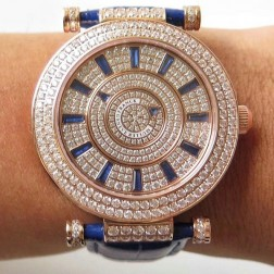 Replica Ladies Franck Muller DOUBLE MYSTERY Diamonds Dial Rose Gold Swiss Made 1:1 Mirror SFR080