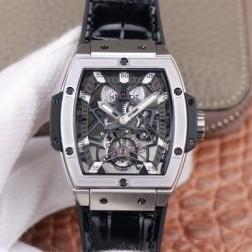 48MM Swiss Made Hand-winding New Titanium Skeleton Hublot MASTERPIECE Tourbillon Best Clone Watch SHB0070