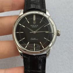Best Swiss Made Replica Rolex Cellini 50509 SS Case Black Dial 1:1 Mirror Quality SRC104