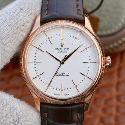 Best Swiss Made Replica Rolex Cellini 50509 Rose Gold Case White Dial 1:1 Mirror Quality SRC102