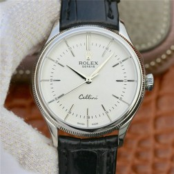 Best Swiss Made Replica Rolex Cellini 50509 SS Case White Dial 1:1 Mirror Quality SRC105