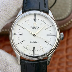 Best Swiss Made Replica Rolex Cellini 50509 SS Case White Dial 1:1 Mirror Quality SRC106