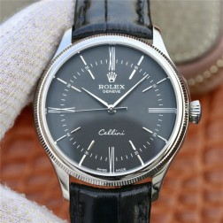 Best Swiss Made Replica Rolex Cellini 50509 SS Case Black Dial 1:1 Mirror Quality SRC107