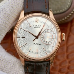 Best Swiss Made Replica Rolex Cellini 50519 Rose Gold Case White Dial 1:1 Mirror Quality SRC109