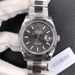 Replica Rolex Datejust II Men Watch Grey Dial 41mm Oyster Bracelet SRDJ010