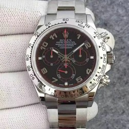 New 1:1 Mirror Replica Rolex Daytona 116509-78599 Black Dial with Arabic Markers Genuine Swiss Made SRDT005