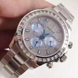 Swiss Replica Rolex Daytona Diamonds Dial and Bezel 1:1 Mirror Quality SRDT008