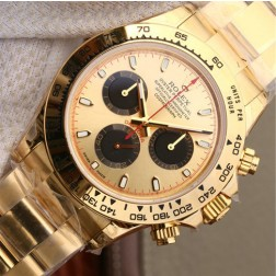 Swiss Replica Rolex Daytona 116508-0009 Yellow Gold Case and Dial 1:1 Mirror Quality SRDT017