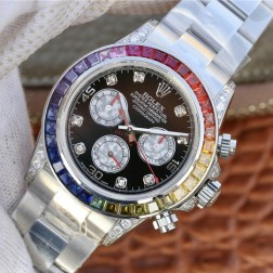 Swiss Replica Rolex Daytona 116599RBow Diamonds Case and Bezel 1:1 Mirror Quality SRDT033