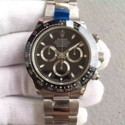 New 1:1 Mirror Replica Swiss Made Rolex Cosmograph Daytona 116500LN-78590 Black Dial Ceramic Bezel SRDT101