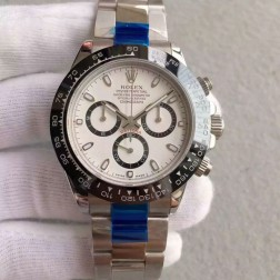 New 1:1 Mirror Replica Swiss Made Rolex Cosmograph Daytona 116500LN-78590 White Dial Ceramic Bezel SRDT102