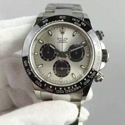 New 1:1 Mirror Replica Swiss Made Rolex Daytona M116519ln-0024 Silver Dial Ceramic Bezel SRDT107
