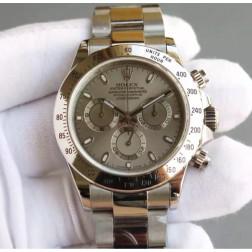 New 1:1 Mirror Replica Rolex Daytona 116520 Silver Dial Top Quality Genuine Swiss Made SRDT108