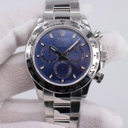New 1:1 Mirror Replica Rolex Daytona 116509 Blue Dial Top End Quality Genuine Swiss Movement SRDT109