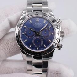 New 1:1 Mirror Replica Rolex Daytona 116509 Blue Dial Top End Quality Genuine Swiss Movement SRDT109