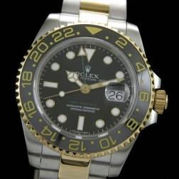 1:1 Mirror Replica Rolex GMT Master II 116713-LN-78203 Yellow Gold Two Tone Genuine Swiss SRGM002