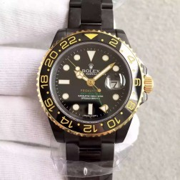 1:1 Mirror Replica Swiss Rolex GMT Master II Pro Hunter 116713-LN-78203 Black Case Two Tone Watch SRGM007