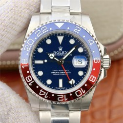 1:1 Mirror Replica Rolex GMT Master II 116719BLRO Blue Dial Pepsi Blue Red Bezel Genuine Swiss SRGM016