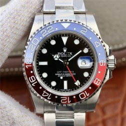1:1 Mirror Replica Rolex GMT Master II 116719BLRO Black Dial Pepsi Blue Red Bezel Genuine Swiss SRGM017