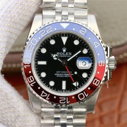 1:1 Mirror Replica Rolex GMT Master II 116719BLRO Black Dial Pepsi Blue Red Bezel Genuine Swiss SRGM018