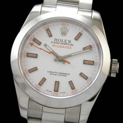 Best Replica Rolex Milgauss White Dial Swiss Movement 1:1 Mirror Quality SRM003