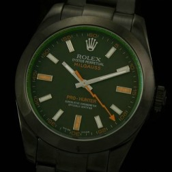Best Replica Rolex Milgauss Pro Hunter PVC Case Black Dial Swiss Movement 1:1 Mirror Quality SRM004