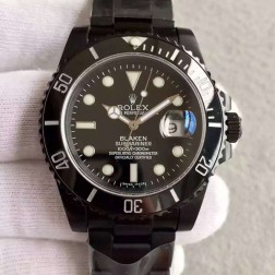 Swiss Made New Replica Rolex Submariner 1:1 Mirror PVD Case Black Dial SRS006