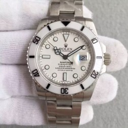 Swiss Made New Replica Rolex Submariner 1:1 Mirror White Dial Ceramic Bezel SRS009