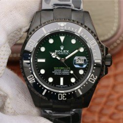 New Rolex Sea-Dweller 1:1 Mirror Green and Black Dial PVD Case Top End Genuine Swiss Quality SRSD002