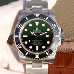 New Rolex Sea-Dweller 1:1 Mirror Green and Black Dial Top End Genuine Swiss Quality SRSD007