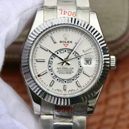 New Genuine Swiss Replica Rolex Sky-Dweller m326934-0001 SS Case White Dial 1:1 Mirror SRSK003