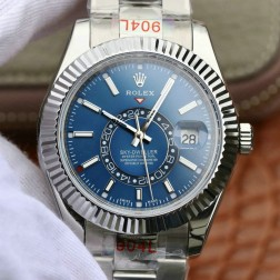 New Genuine Swiss Replica Rolex Sky-Dweller m326934-0003 SS Case Blue Dial 1:1 Mirror SRSK005