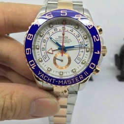 New Swiss Made Replica Rolex Yacht-Master II 116681-78211 Rose Gold Two Tone 1:1 Mirror Quality SRY001
