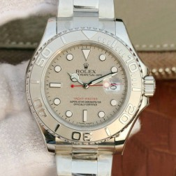 Swiss Made Replica Rolex Yacht-Master 116622 Silver Rolesium Dial 1:1 Mirror Best Quality SRY003