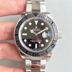 Swiss Made Replica Rolex Yacht-Master 116655 Black Dial Ceramic Bezel 1:1 Mirror SRY005