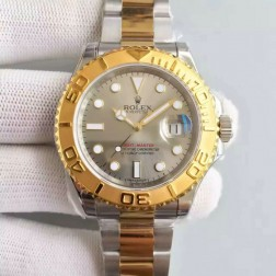 Swiss Made Replica Rolex Yacht-Master 116621 Silver Dial Yellow Gold Two Tone Watch 1:1 Mirror SRY013
