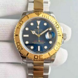 Swiss Made Replica Rolex Yacht-Master 116621 Blue Dial Yellow Gold Two Tone Watch 1:1 Mirror Best Quality SRY015